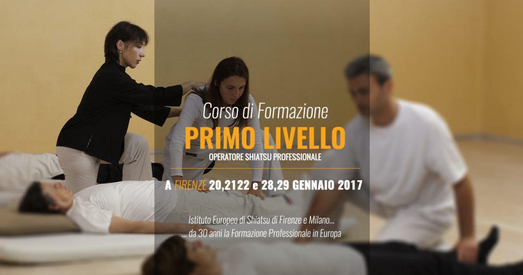 Primo Livello Formazione per Operatori Shiatsu a Firenze
